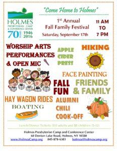 2016 Fall Festival flier