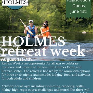 2021 Holmes Retreat Week
